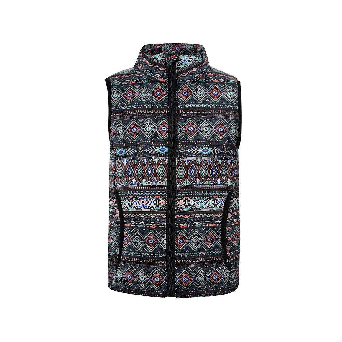 Pure Western Girls Jackie Quilted Vest Multi
