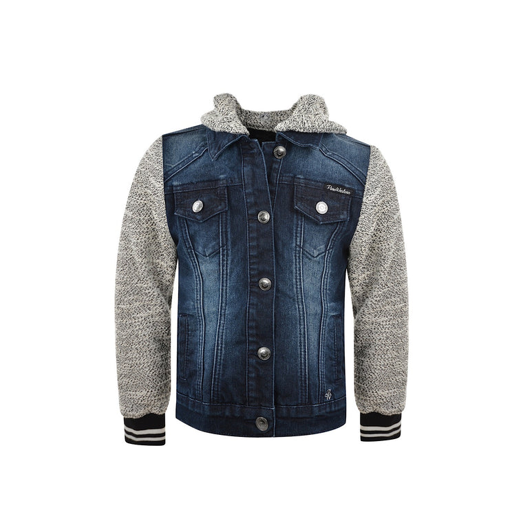 Pure Western Girls Elsa Denim Jacket Midnight/Grey