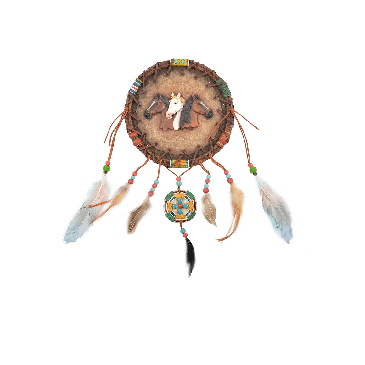 Pure Western 3 Horses Dream Catcher P9S1919GFT