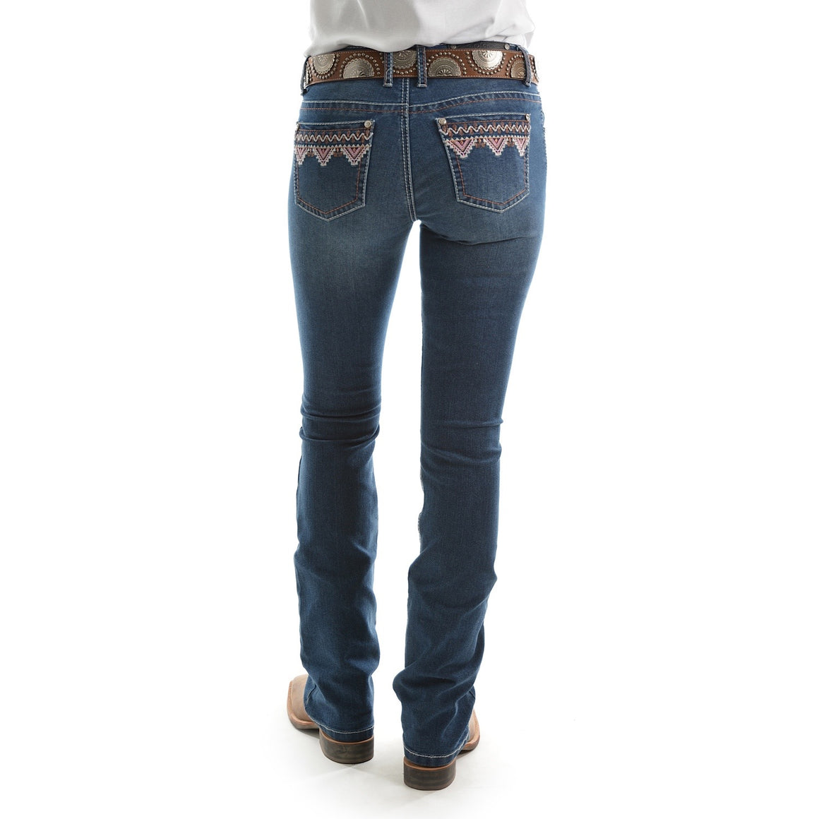 "Pure Western Womens Darcy Boot Cut Jean 34"" Leg Evening Sky"