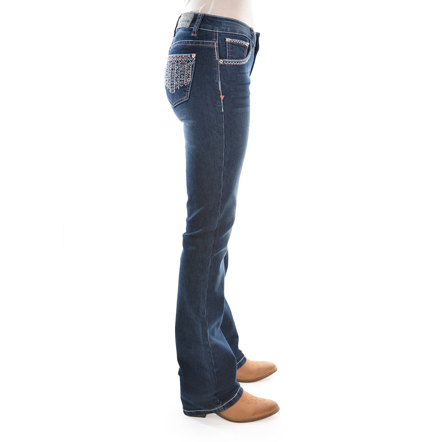 Buy Pure Western Womens Angie Relaxed Rider Jean 36 Leg Midnight The Stable Door
