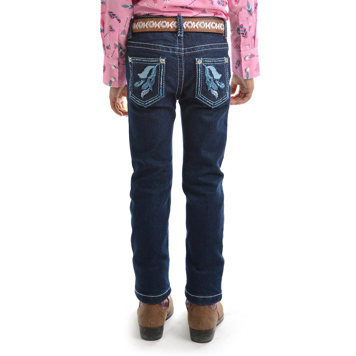 Pure Western Girls Bonnie Slim Leg Jean Dark Night