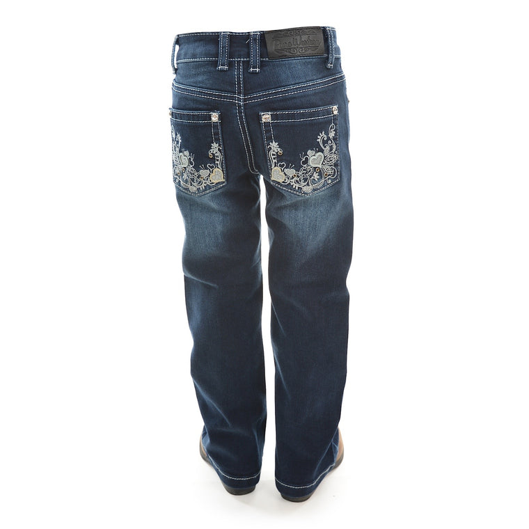Pure Western Girls Rosie Boot Cut Jean Dark Night