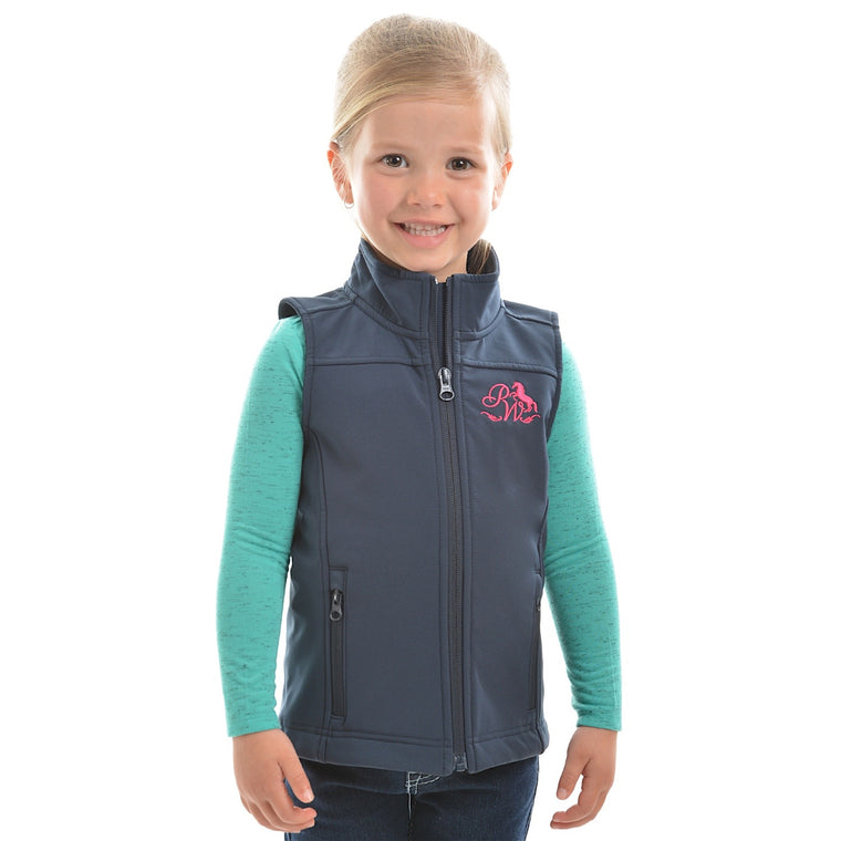 Pure Western Girls Soft Shell Vest Ink