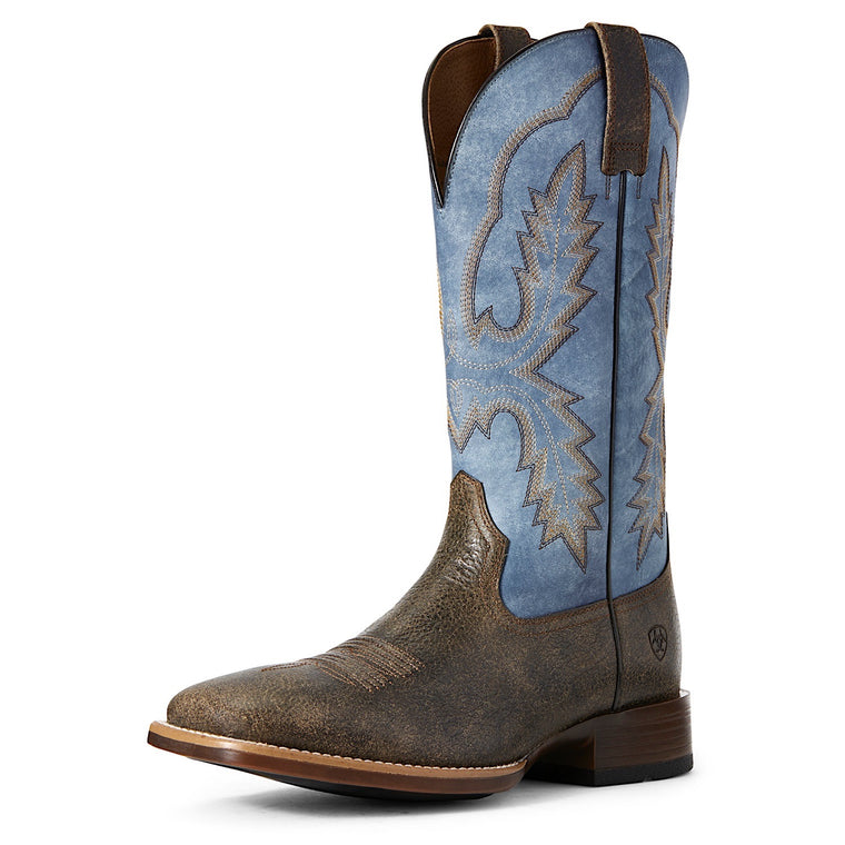 Ariat Mens Pecos Western Boot Brooklyn Brown/Igloo Blue
