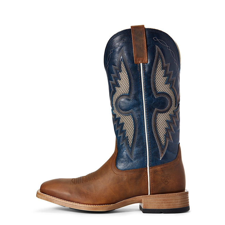 Ariat Mens Solado Venttek Sorrel Crunch/ Cowboy Blue