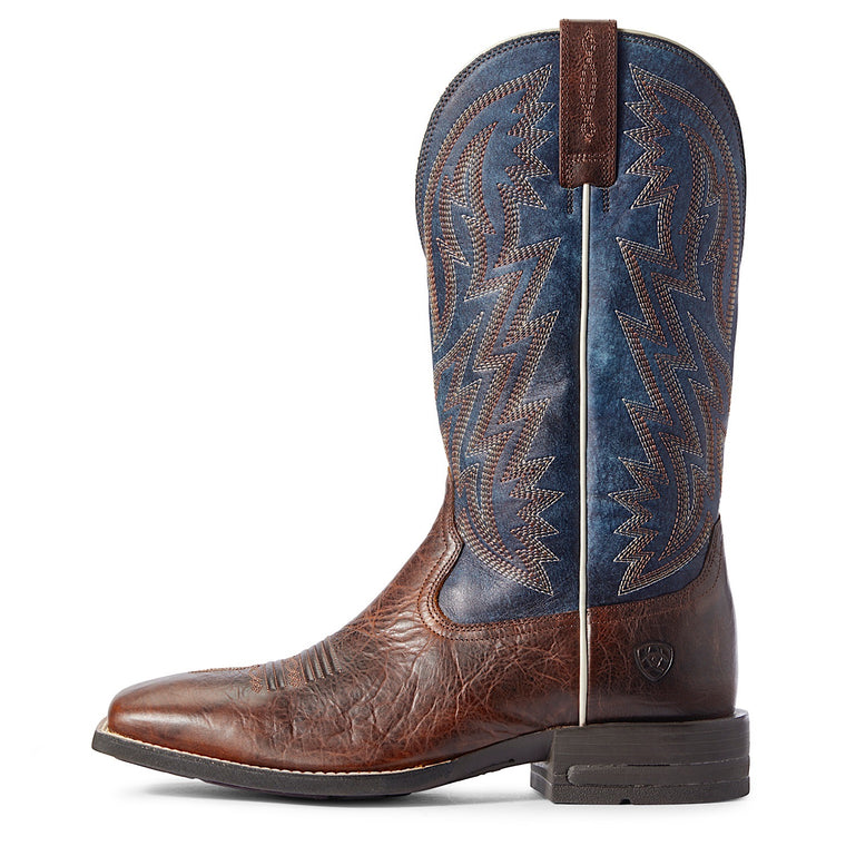 Ariat Mens Dynamic Western Boot Brown Patina/Blue Dusk
