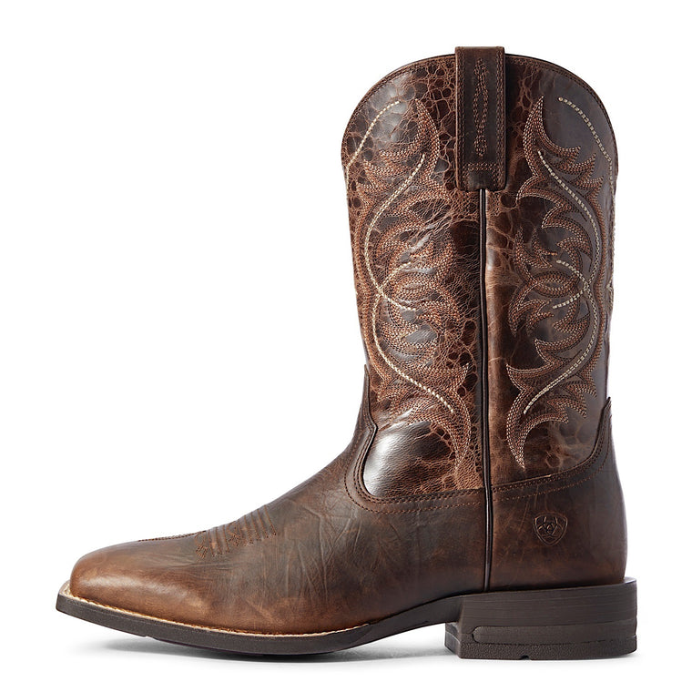 Ariat Mens Holder Western Boot Old Oak/Canteen Coffee
