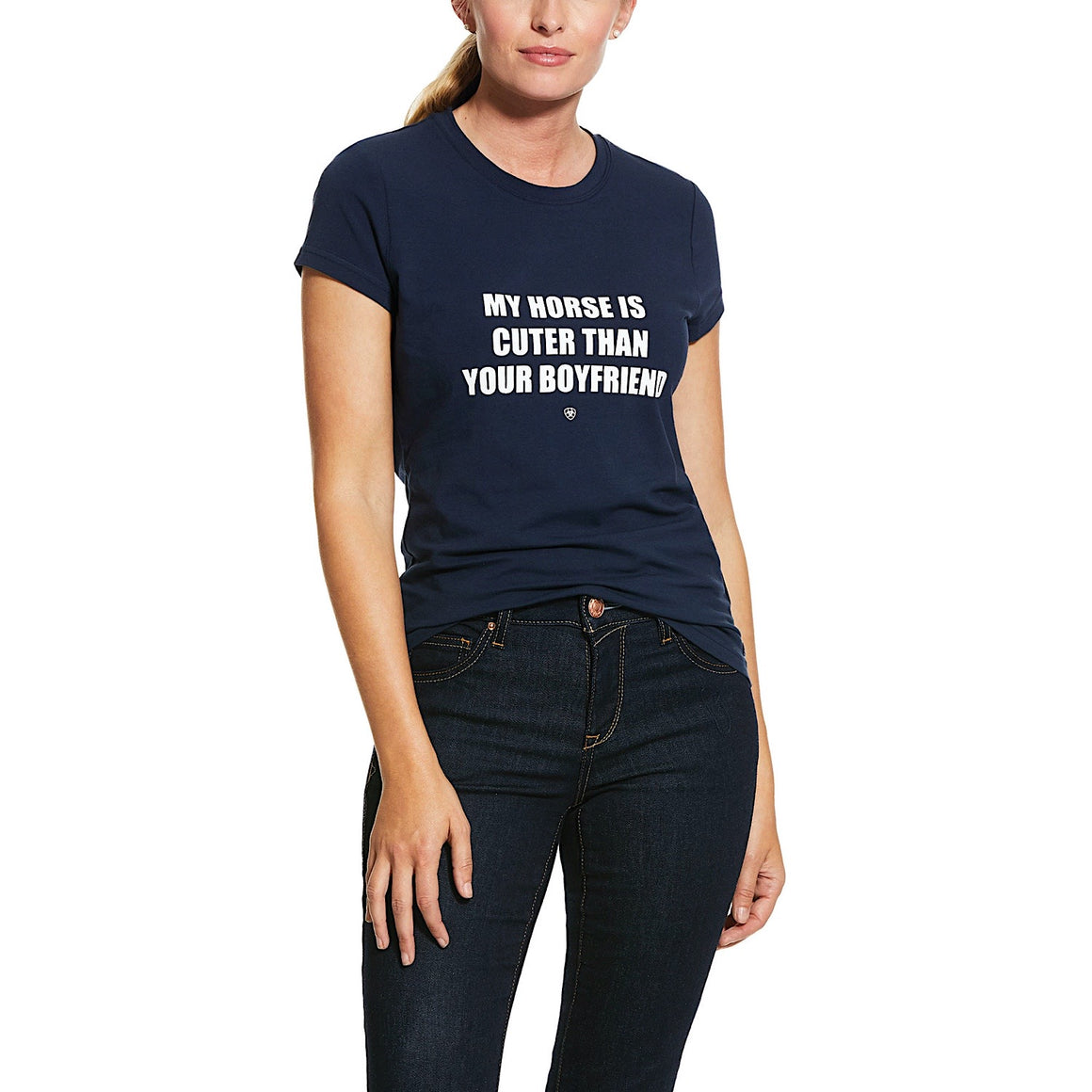 Ariat Womens Boyfriend Tee Navy