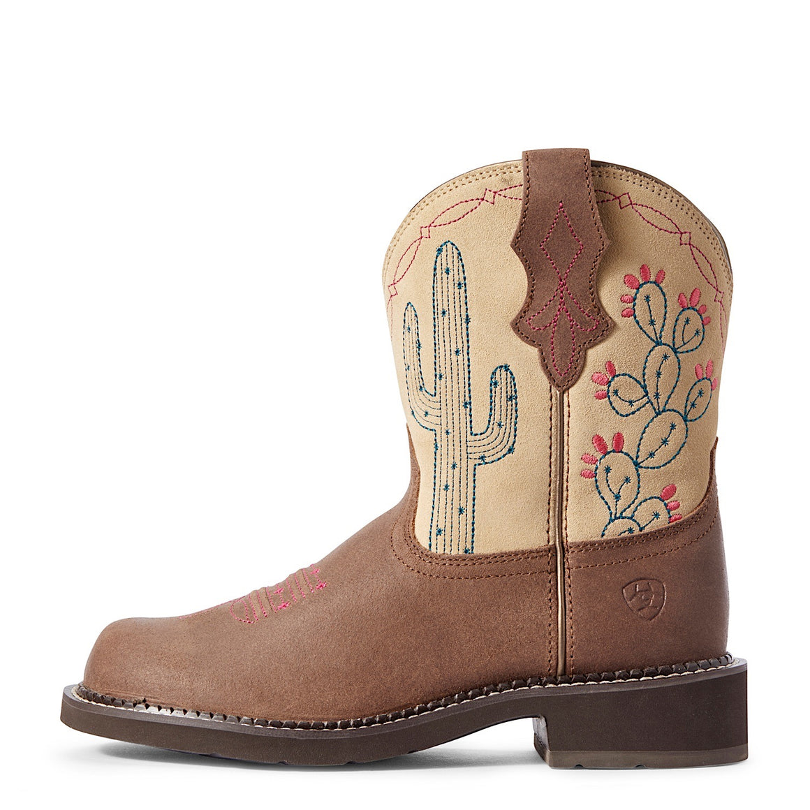 Ariat Womens Fatbaby Heritage Western Boot Desert Brown Barley/Sand