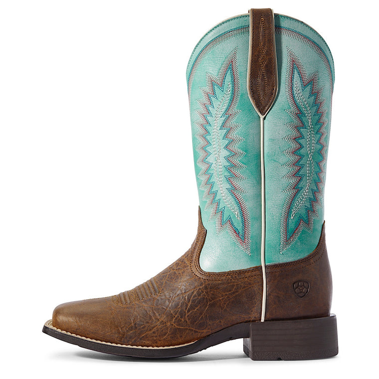 Ariat Womens Quickdraw Legacy Western Boot Natural Crunch/Pool Blue