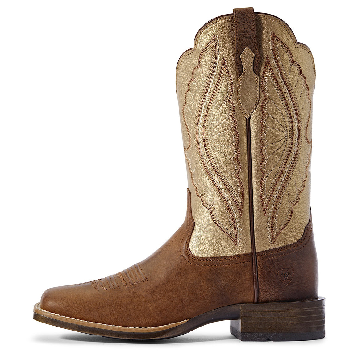 Ariat Womens Prime Time Western Boot Sassy Brown/Pop Gold