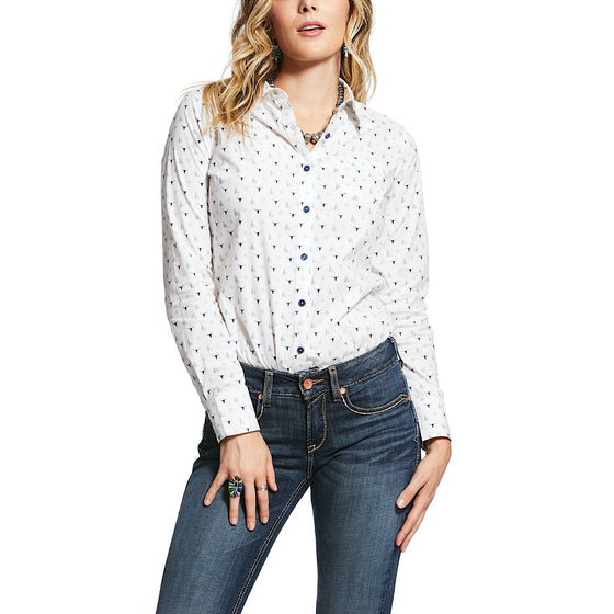 Ariat Womens Wrinkle Resist Kirby Stretch Shirt Glory Multi