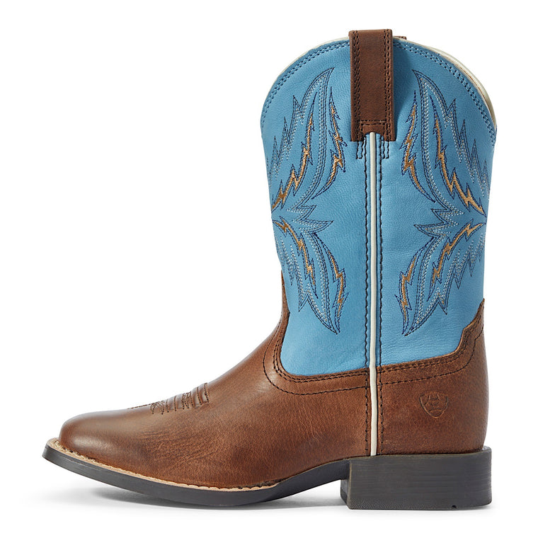 Ariat Kids Arena Rebound Western Boot Billy Brown