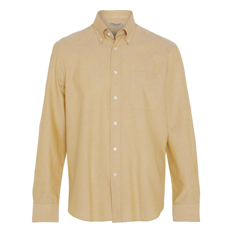R.M.Williams Collins Button Down Shirt Mustard Regular Fit