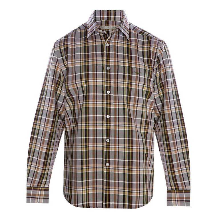 R.M.Williams Collins Shirt Light Brown/Fawn Regular