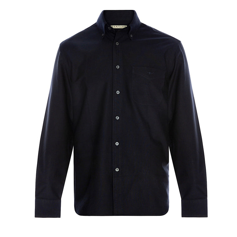 R.M.Williams Collins Button Down Shirt Navy/Black Regular Fit