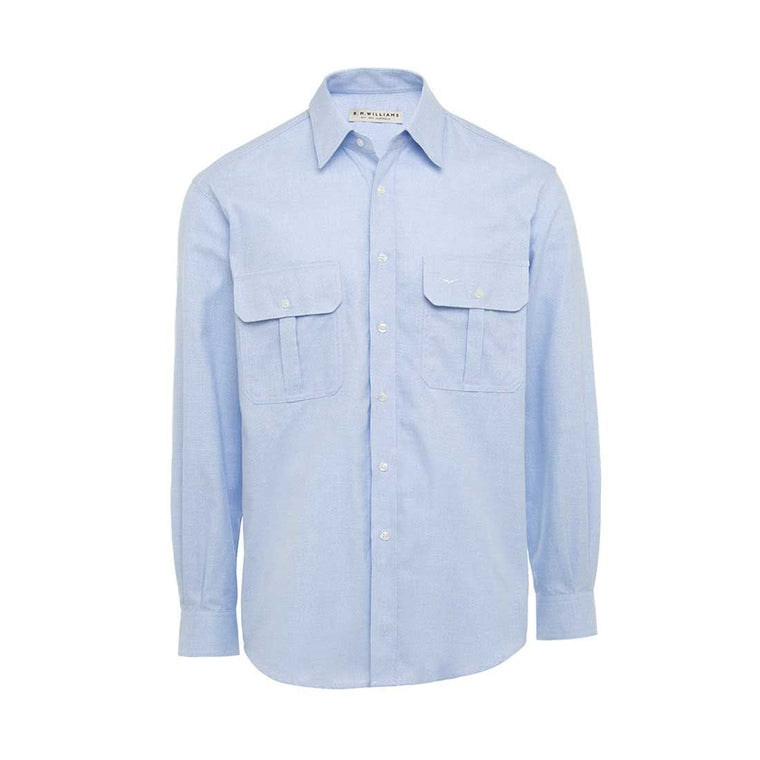 R.M Williams Long Sleeve Grazier Shirt Blue