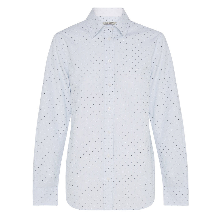 R.M.Williams Nicole Shirt White/Blue Reg Fit
