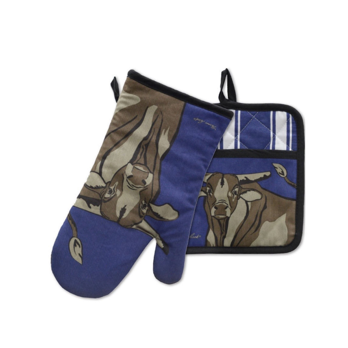 Thomas Cook Oven Mitt & Pot Holder Bull