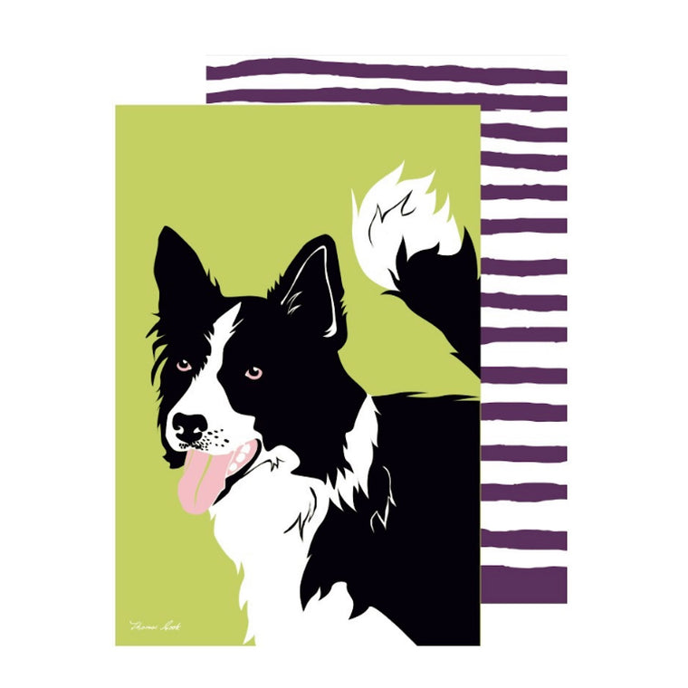 Thomas Cook Tea Towel Border Collie 2 Pack