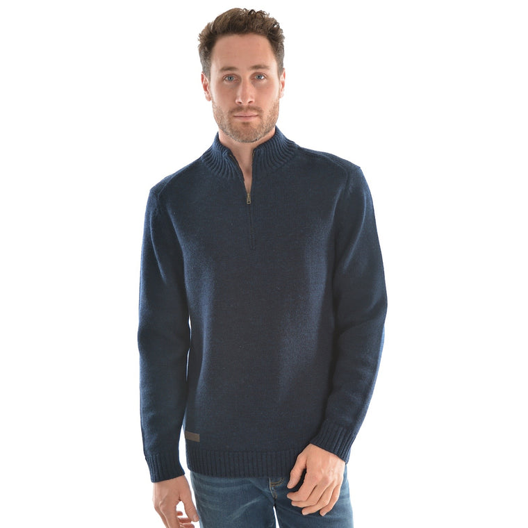 Thomas Cook Mens Morely 1/4 Zip Neck Jumper Navy Marle