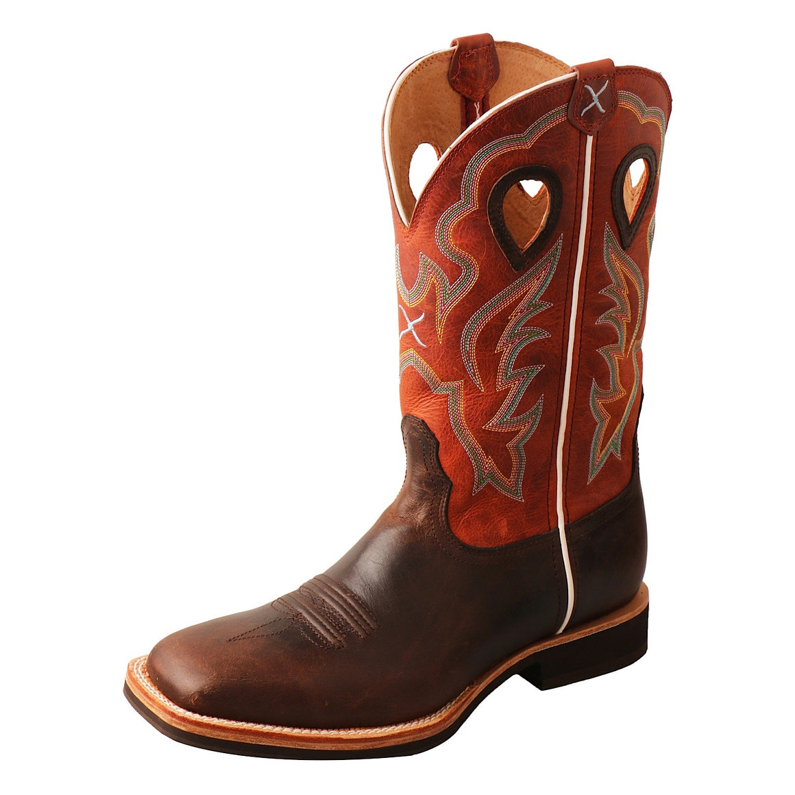 Twisted X Mens Orange Horseman Chocolate/Orange