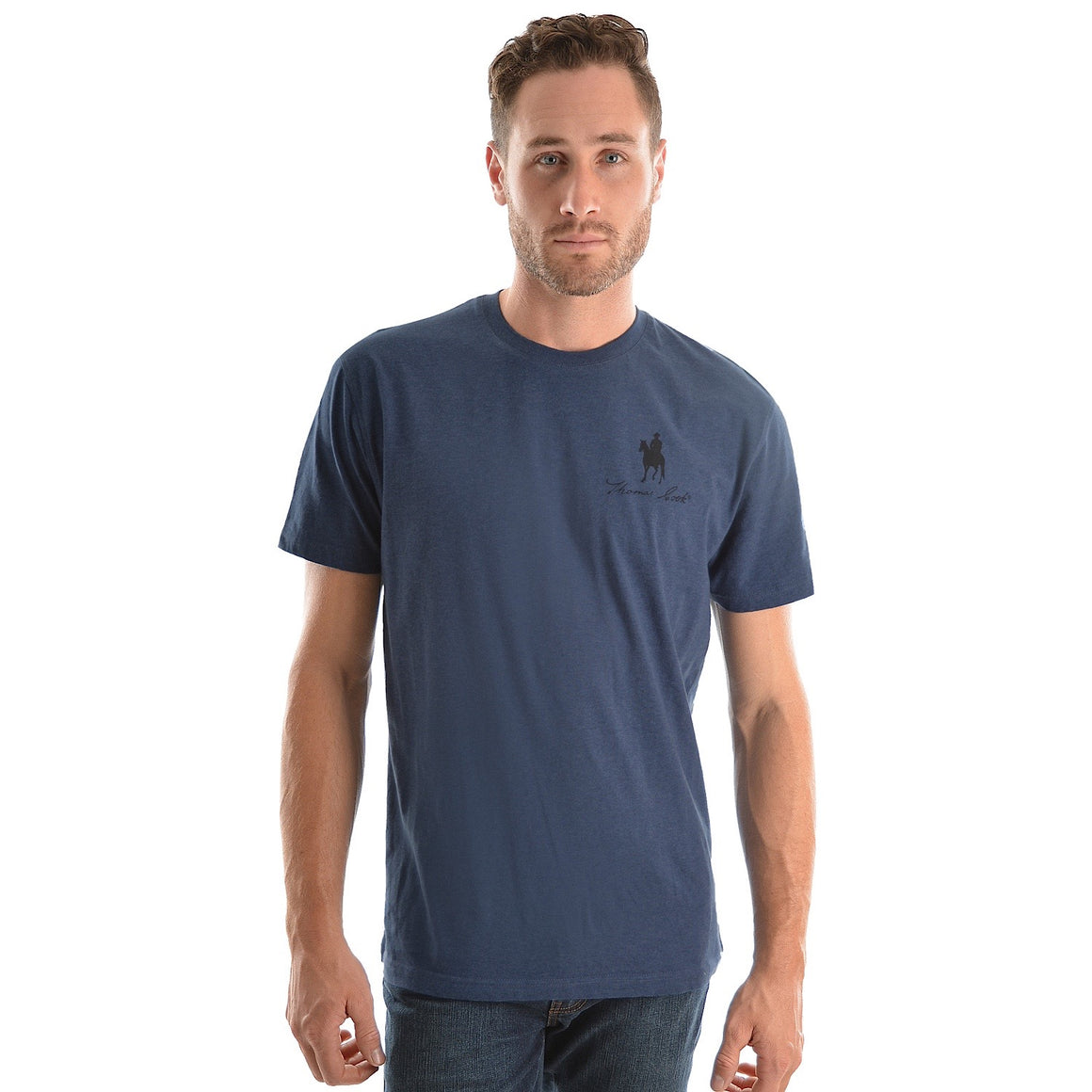 Thomas Cook Mens Logo S/S Tee Navy Marle