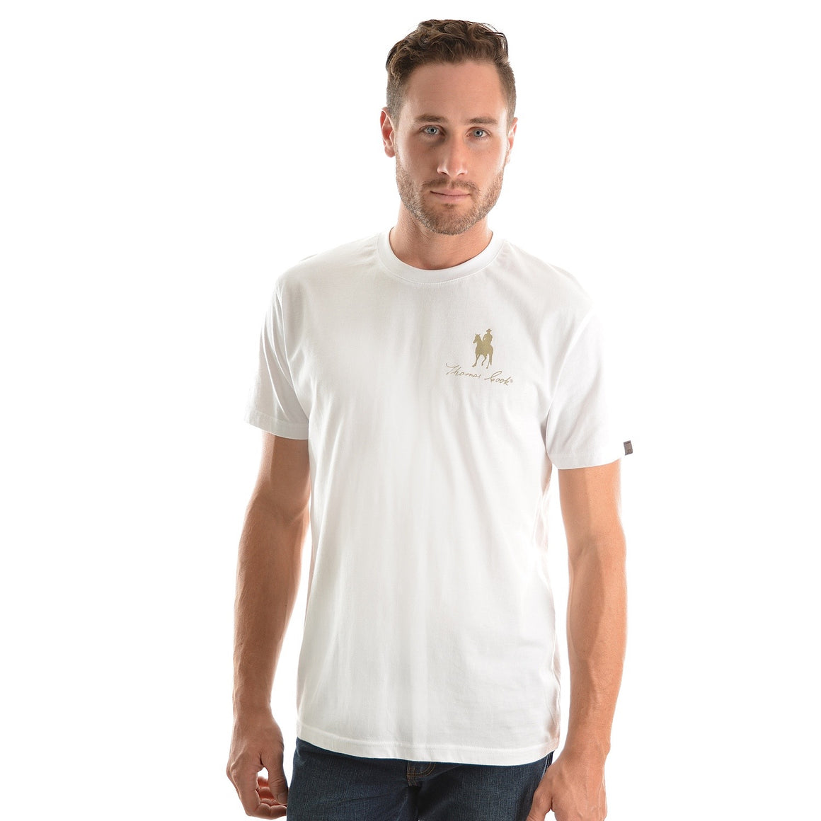 Thomas Cook Mens Logo S/S Tee White