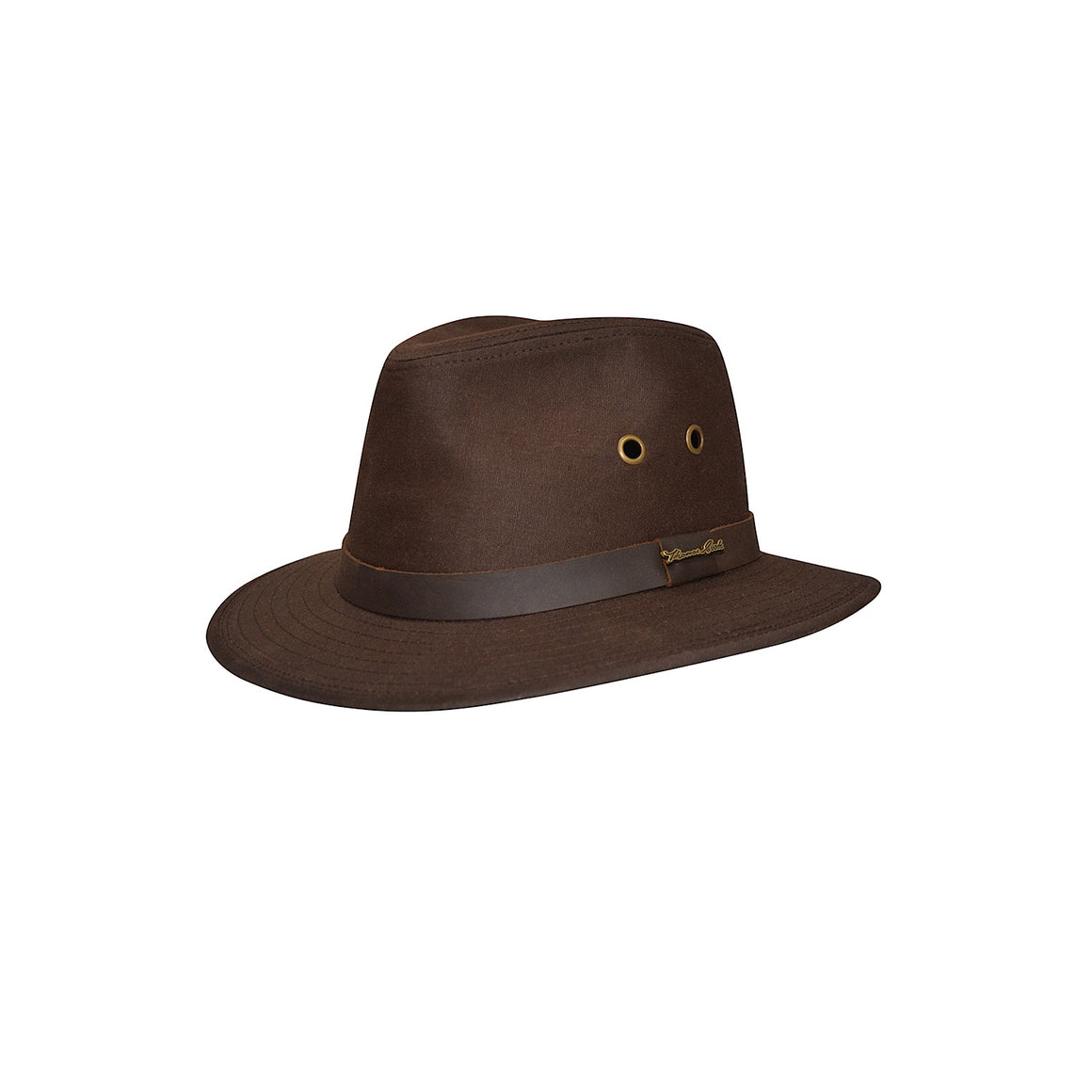 Thomas Cook Oilskin Hat Dark Brown