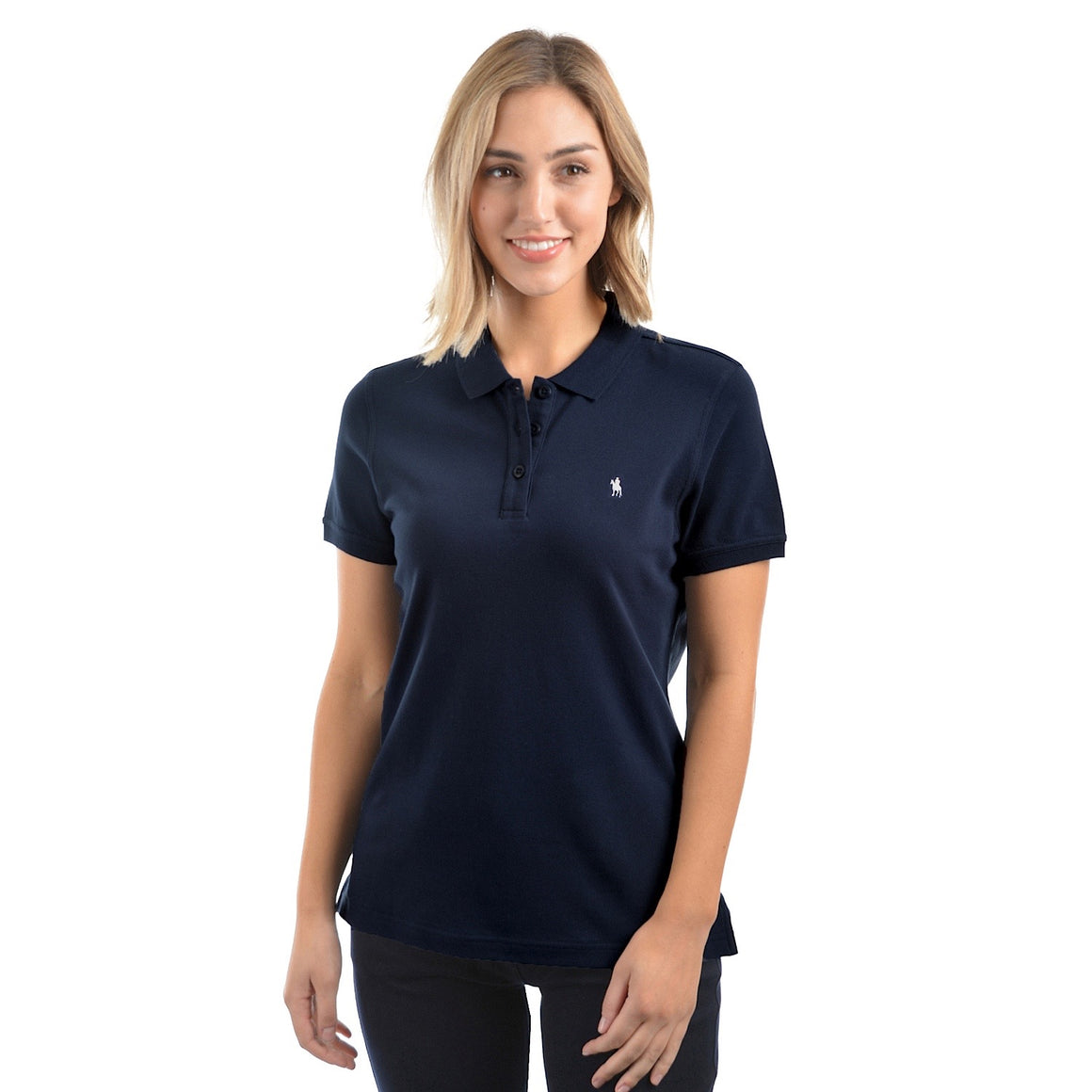 Thomas Cook Womens Classic Stretch Polo Dark Navy