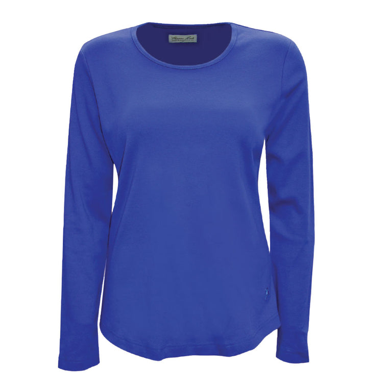 Thomas Cook Womens Curved Hem Top Dazzling Blue