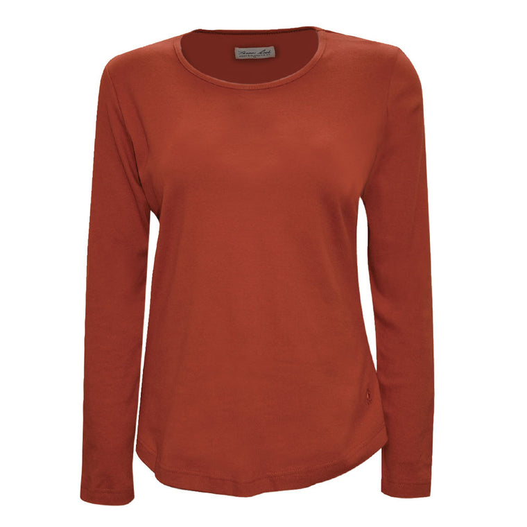 Thomas Cook Womens Curved Hem Top Rust