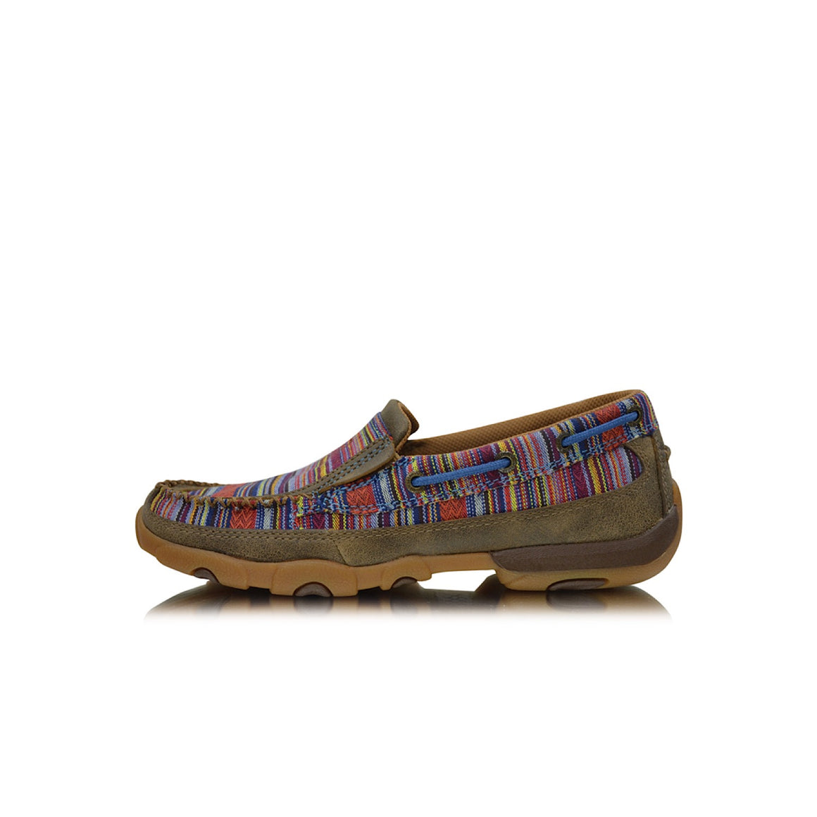 Twisted X Womens Casual Driving Moc Slip On Bomber Multi Serape