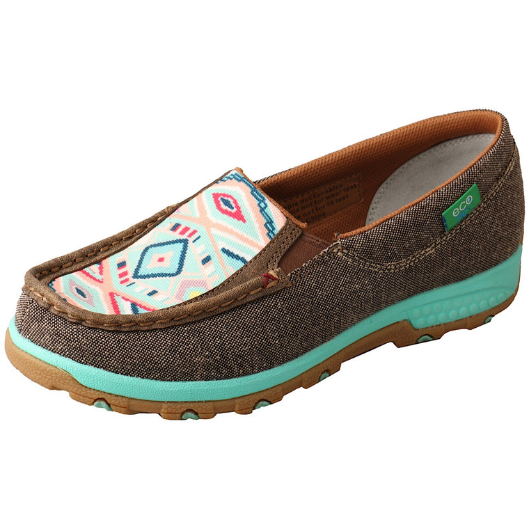 Twisted X Womens Eco Aztec Cellstretch Slip On Dust/Aztec
