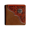 Bi Fold Wallet Brown/Tan WLT2112A
