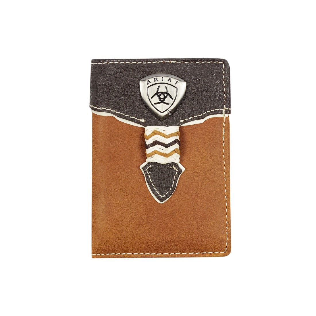 Ariat Tri fold Wallet Brown WLT3109A