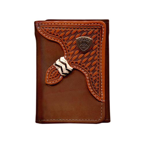 Ariat Tri fold Wallet Brown WLT3111A