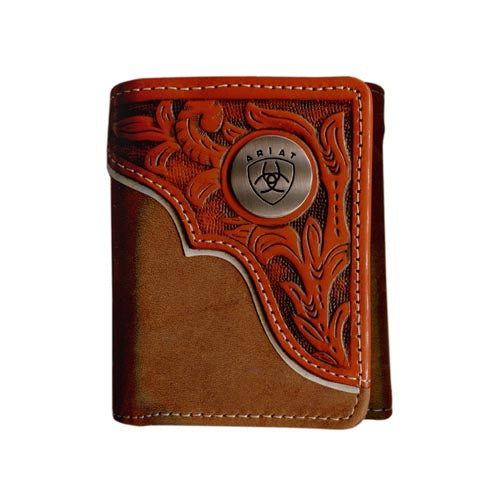 Tri fold Wallet Brown/Tan WLT3112A