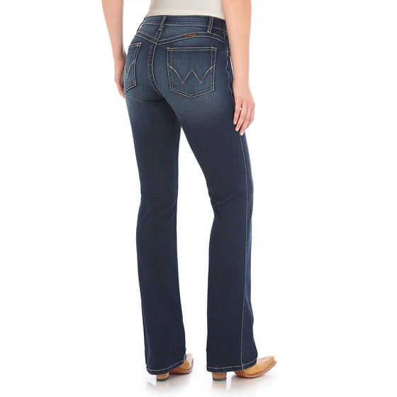 Wrangler Womens Ultimate Riding Jean - Q Baby Dark Blue