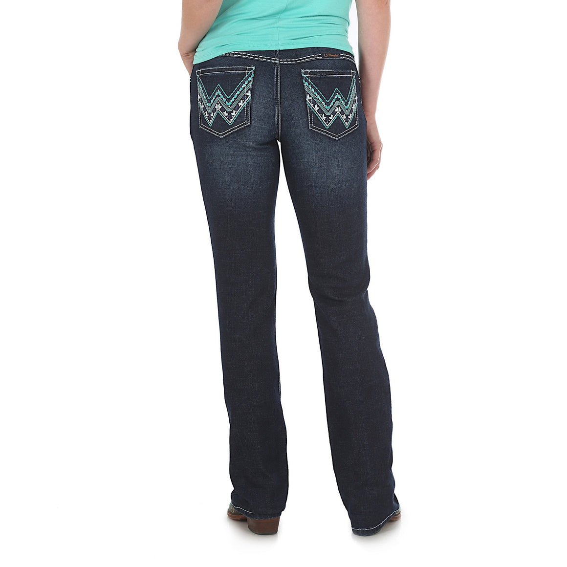Wrangler Womens Low Rise Ultimate Riding Jean Shiloh Indigo WRS40GD34