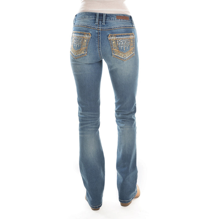 Wrangler Womens Sits Above Hip Jean 34 Leg True Blue - X0W2247490