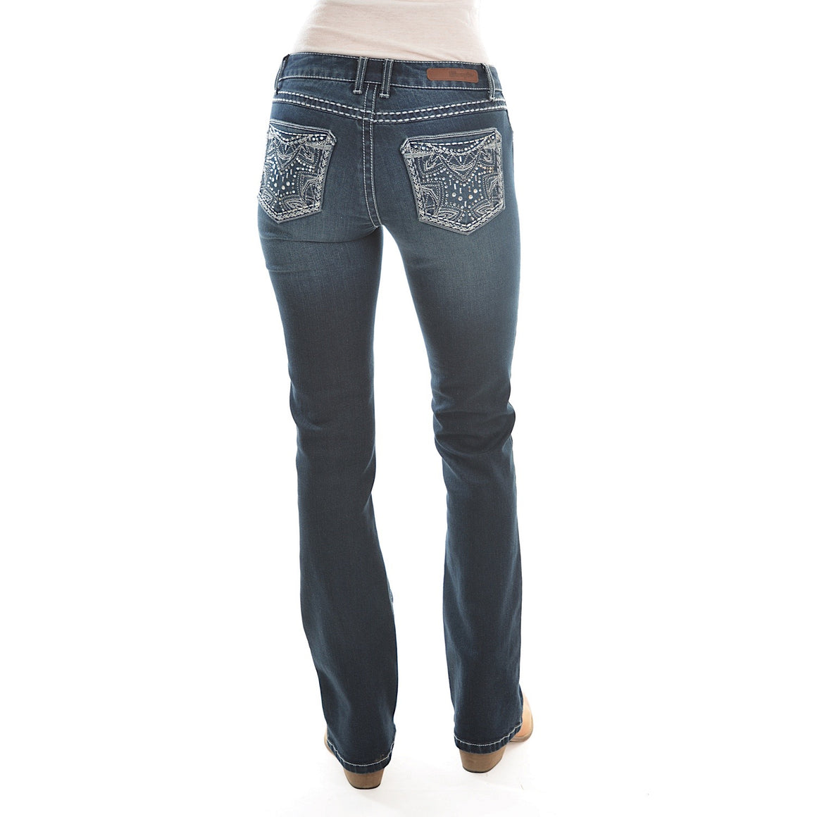 Wrangler Rock 47 Womens Sits Above Hip Jean 34 Leg Midnight