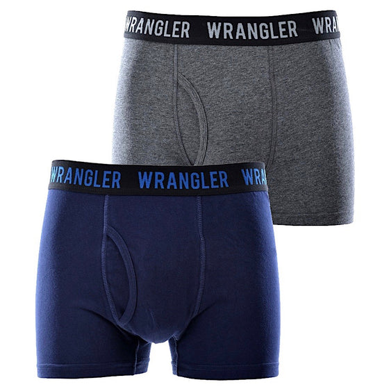 Wrangler Mens Dan Trunk Twin Pack Multi