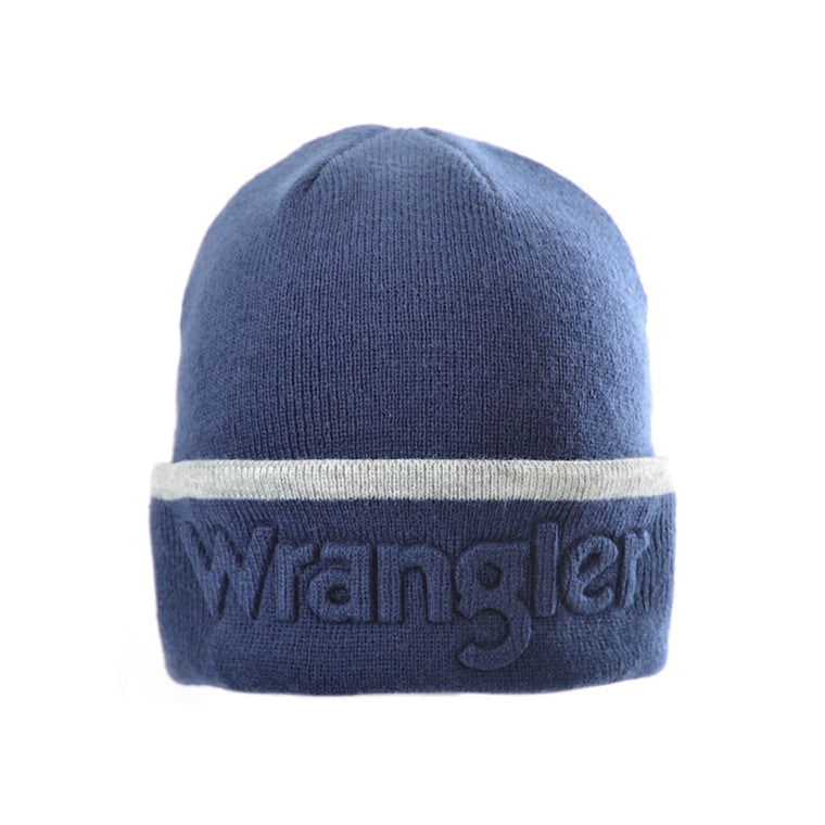 Wrangler Logo Beanie Royal Blue