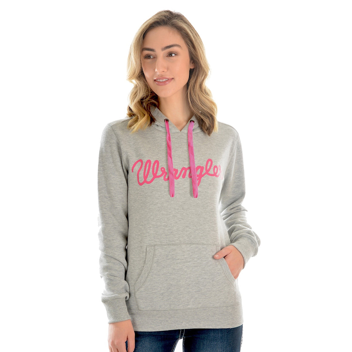 Wrangler Womens Whitney Pullover Hoodie Grey Marle