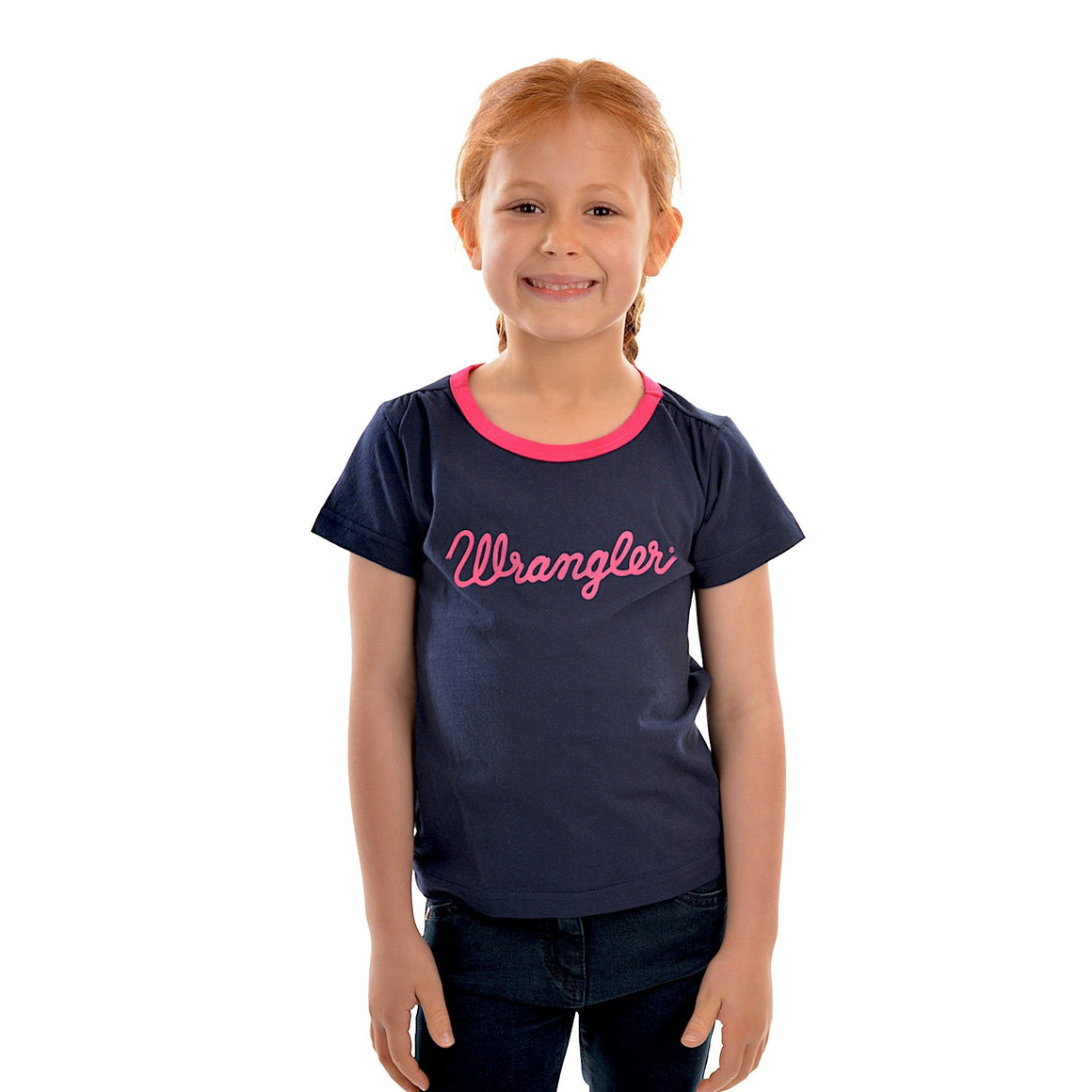 Wrangler Girls Logo Tee Navy