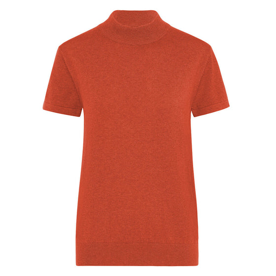 R.M.Williams Elsey Mock Neck Knit Burnt Orange Regular Fit