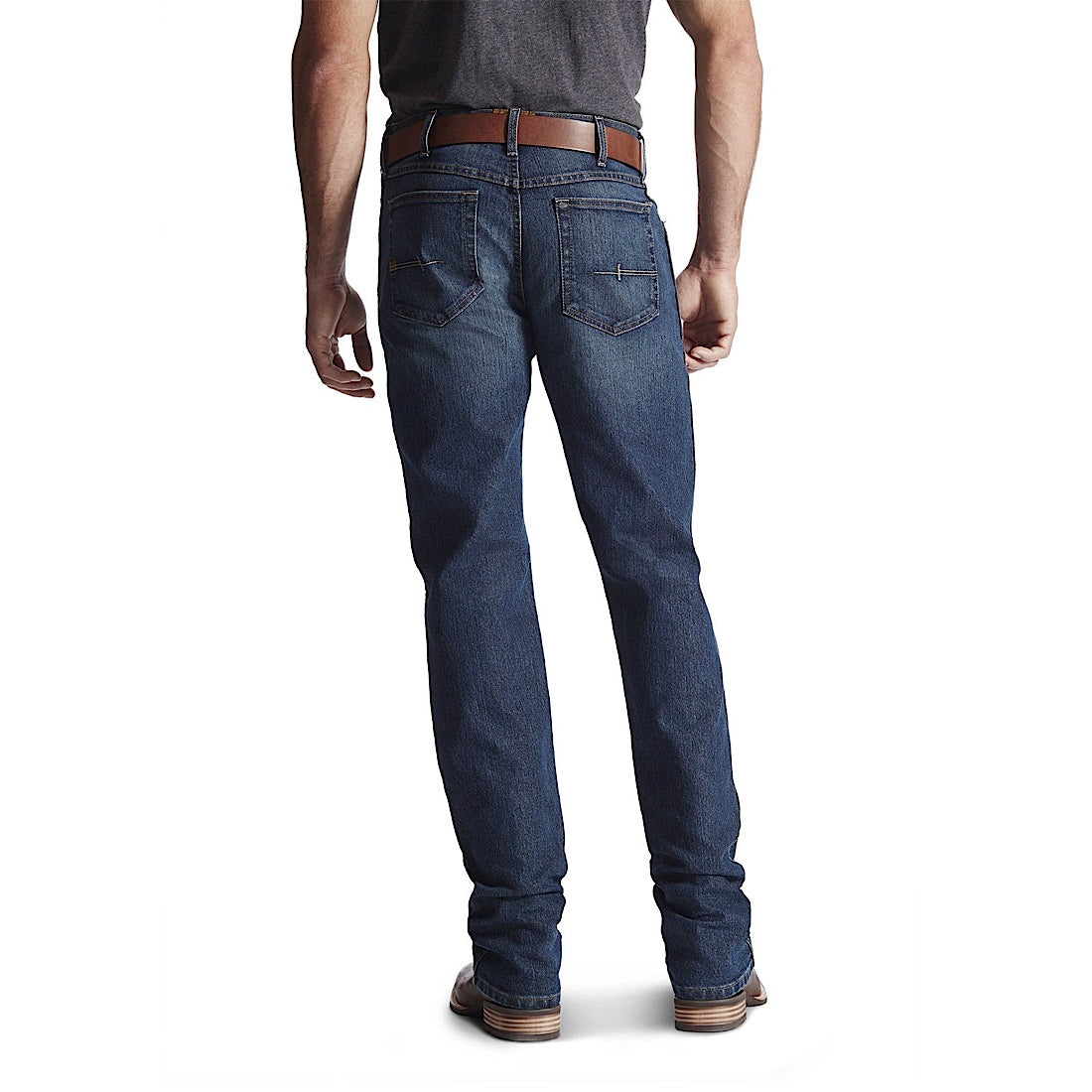 Ariat Mens Rebar Fashion M4 Low Rise Boot Cut Jean Carbine