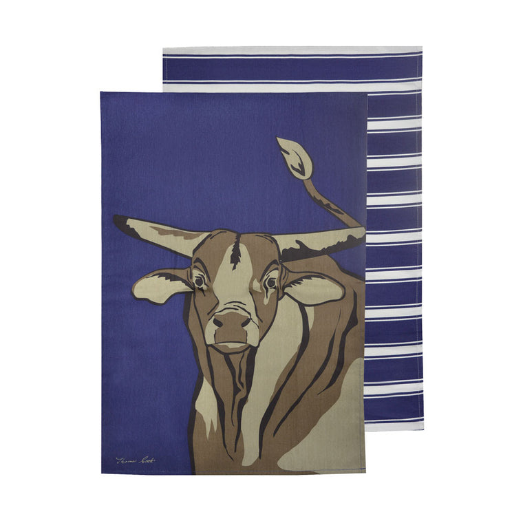 Thomas Cook Tea Towel Bull 2 Pack